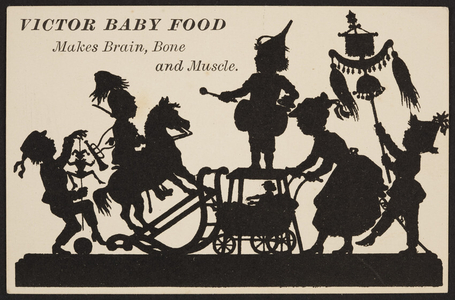 Trade card for Victor Baby Food, location unknown, undated