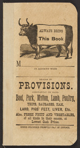 Account book for a provisions dealer, location unknown, undated