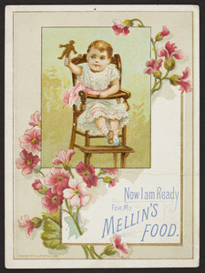 Trade card for Mellin's Food, location unknown, 1883