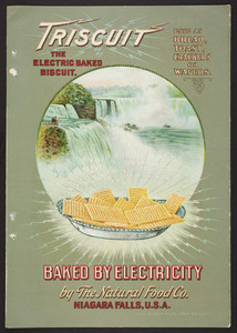 Triscuit the electric baked biscuit, The Natural Food Co., Niagra Falls, New York, 1903
