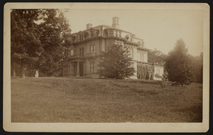Exterior view of the David Nelson Skillings Mansion, Rangeley, Winchester, Mass., undated