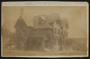 Exterior view of duplex house, lower entrance to Rangeley, Winchester, Mass., undated