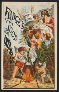 Trade card for Ridge's Food for Infants, Woolrich & Co., Palmer, Mass., undated