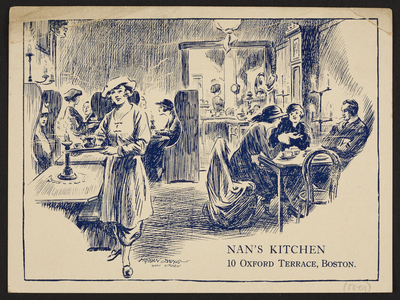 Nan's Kitchen, 10 Oxford Terrace, Boston, Mass., undated