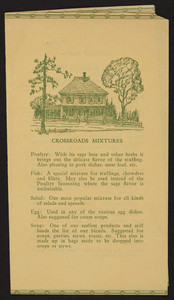 Leaflet for The Crossroads Herbery, Orleans, Mass., undated