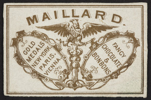 Trade card for Maillard, fancy chocolate & bonbons, location unknown, undated