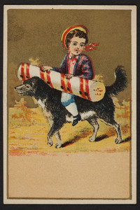 Trade card for unknown confectioner, location unknown, undated