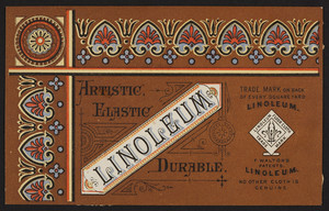 Trade card for F. Walton's Patents. Linoleum, location unknown, undated