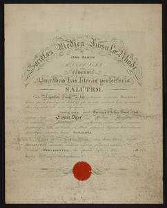 Rhode Island Medical Society certificate