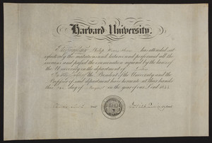 Harvard University certificate in Latin