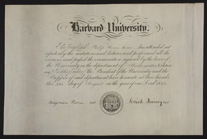 Harvard University certificate in Mathematics & Astronomy