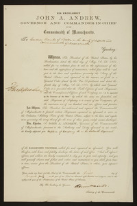 Appointment to Massachusetts Volunteers, 1861