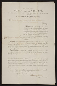Appointment to Massachusetts Volunteers, 1862