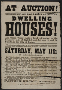Auction for dwelling houses
