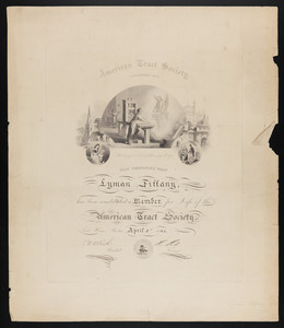 American Tract Society membership certificate