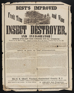 Advertisement for Best's Improved Insect Destroyer