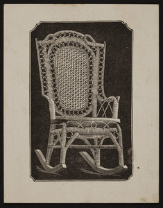 Trade card for the Wakefield Rattan Co., manufacturers of rattan furniture, 231 State Street, Chicago, Illinois, undated