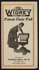 Widney Shine-Proof Patent Chair Pad, Fitzgerald Book & Art Co., 190 High Street, Holyoke, Mass., undated