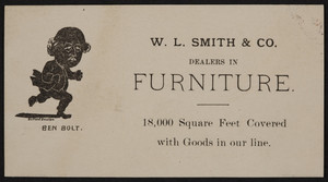 Trade card for W.L. Smith & Co., dealers in furniture, Boston, Mass., undated