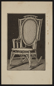 Trade card for the Wakefield Rattan Co., manufacturers of rattan furniture, 231 State Street, Chicago, Illinois undated
