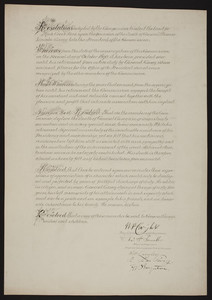Resolution on the death of General Thomas Lincoln Casey