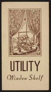 Utility window shelf, Irving B. Van Wert, Amherst, Mass., undated