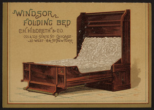 Brochure for the Windsor Folding Bed, C.H. Hildreth & Co., 221 & 223 State Street, Chicago, Illinois and 35 West 14th Street, New York, New York, undated