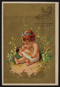 Trade card for the Marks Folding Chair, Marks Adjustable Folding Chair Co., Ltd., 850 Broadway, New York, New York, undated
