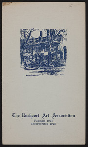 Brochure for The Rockport Art Association, Rockport, Mass., 1940s