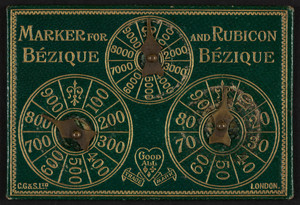 Marker for Bézique and Rubicon Bézique, C. Goodall & Son Ltd., London, United Kingdom, undated