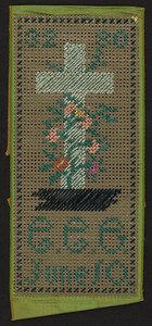 Bookmark with crucifix, embroidery, location unknown, undated