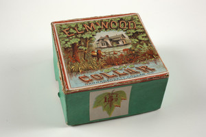 Box for the Elmwood Collar, Narragansett Collar Co., location unknown, ca. 1871