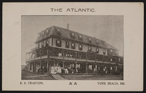 Brochure for The Atlantic, hotel, E.S. Trafton, York Beach, Maine, undated