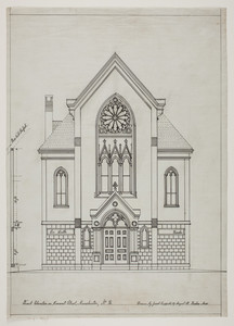 Set of drawings for the German Evangelical Lutheran Emmanuel Church, Manchester, NH, undated