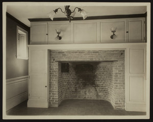 Interior view of the Craddock-Tufts House, southwest room, Medford, Mass., undated
