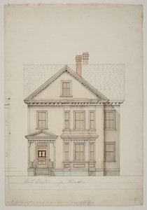 Front elevation of a two-and-a-half story dwelling for Weinaker, undated