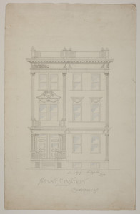 Front elevation of three story dwelling, 1894