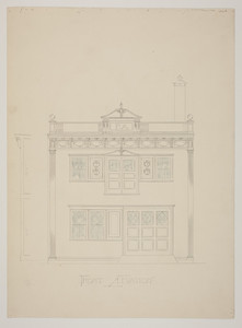 Front elevation of store front, undated