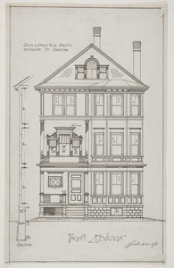 Front elevation for three-and-a-half story dwelling, undated