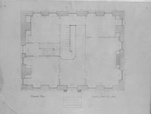 Ground plan of the John Hancock House, Boston, Mass., ca. 1863