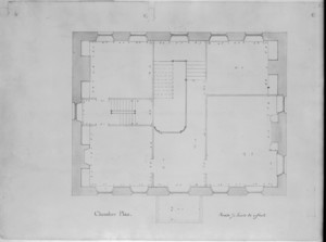 Chamber plan of the John Hancock House, Boston, Mass., ca. 1863