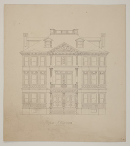 Front elevation for a multi-family apartment dwelling, undated