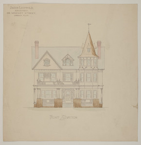Front elevation for two-and-a-half story dwelling, undated