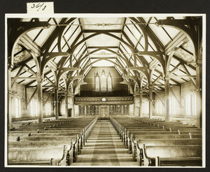 Interior view of the Agnes Church, Arlington, Mass., undated