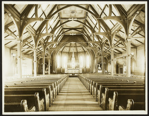 Interior view of St. Agnes Church, Arlington, Mass., undated