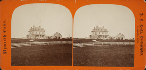 Exterior view of the old Simmes Place, Point Road, Plymouth, Mass., undated