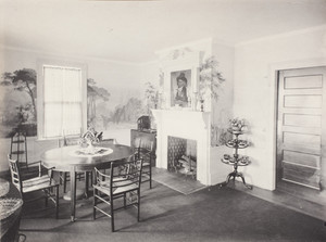 Interior view of Ardley, Quincy Memorial, dining room, Litchfield, Connecticut, July 23, 1908
