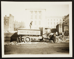 View of the Brewer House demolition site, Beacon Street, Boston, Mass., March 1917