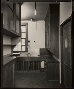Interior view of John Olmsted House, kitchen, 99 Warren Street, Brookline, Mass., February, 1997
