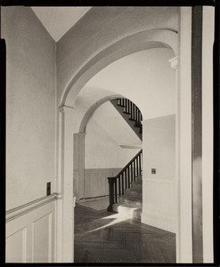 Interior view of John Olmsted House, hall, 99 Warren Street, Brookline, Mass., February, 1997